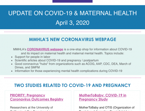 COVID-19 MMHLA Newsletter – April 3rd